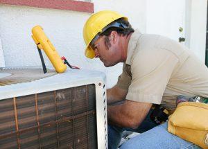 Air Conditioning Repairman Fixing Problem